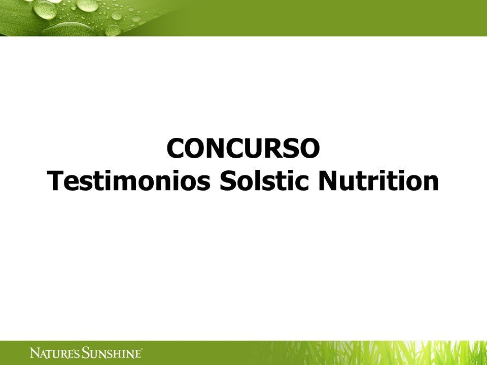 CONCURSO Testimonios Solstic Nutrition