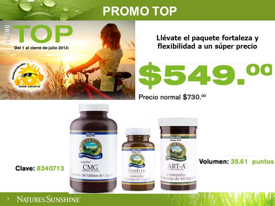 8 Clave: 8210713 Volumen: 8.82 puntos Auxiliar en el tratamiento de fatiga, debilidad, estrés y desgaste físico y antioxidante PROMO PRUÉBAME