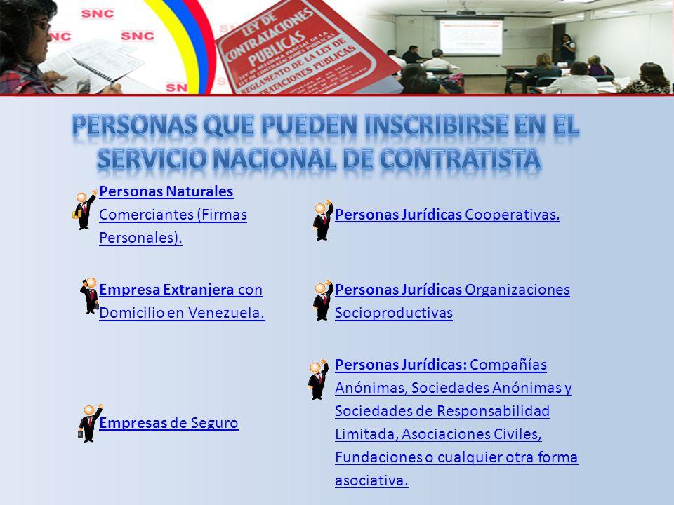 Personas Naturales Comerciantes (Firmas Personales).