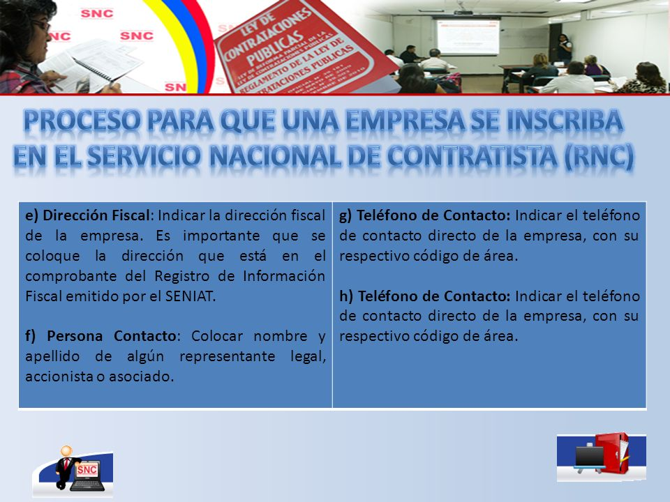 e) Dirección Fiscal: Indicar la dirección fiscal de la empresa.