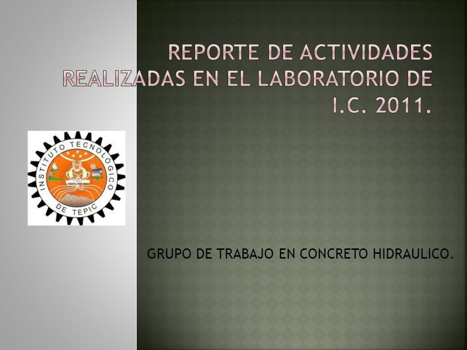 GRUPO DE TRABAJO EN CONCRETO HIDRAULICO.