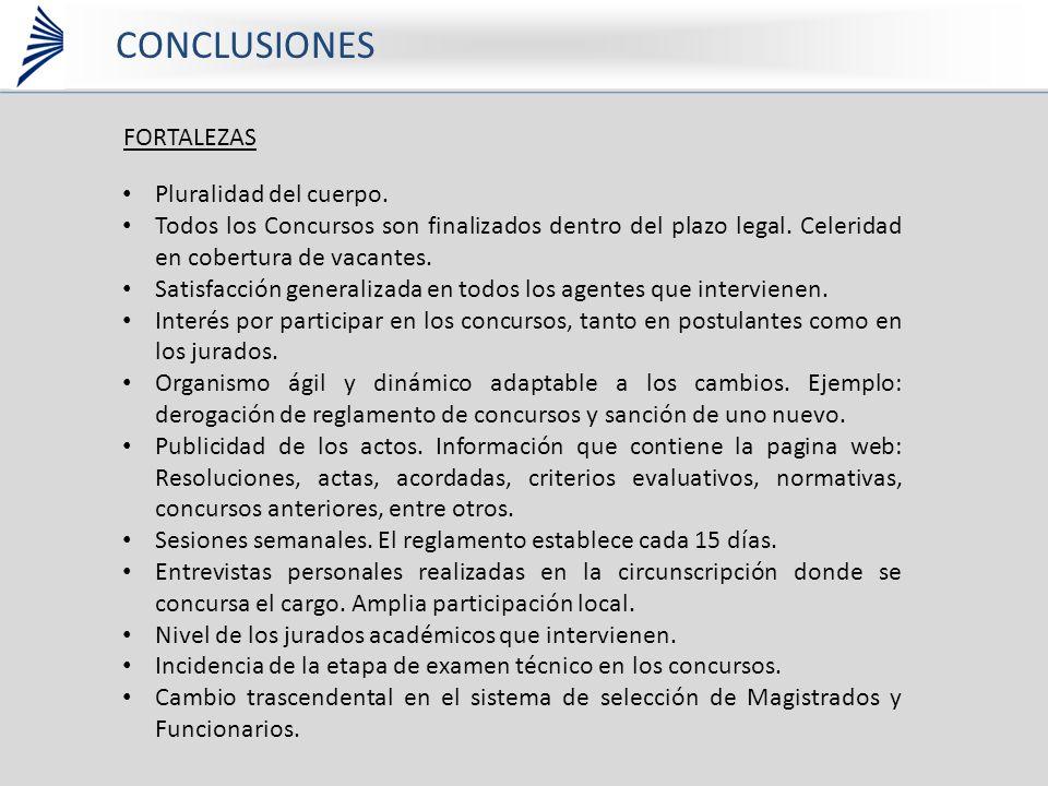 CONCLUSIONES FORTALEZAS Pluralidad del cuerpo.