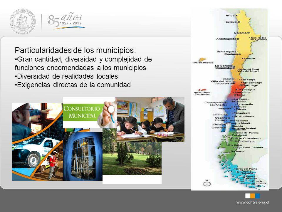 Particularidades de los municipios: Gran cantidad, diversidad y complejidad de funciones encomendadas a los municipios Diversidad de realidades locale