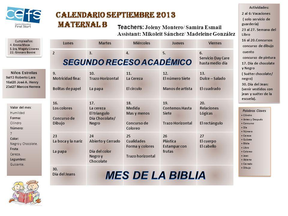 LunesMartesMiércolesJuevesViernes 23456 Servicio hasta medio día 9 Semejanza y Diferencia pág.