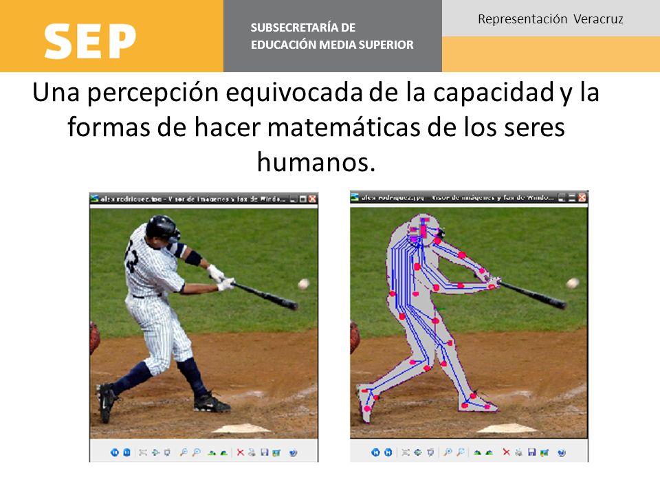 SUBSECRETARÍA DE EDUCACIÓN MEDIA SUPERIOR Representación Veracruz Una percepción equivocada de la capacidad y la formas de hacer matemáticas de los se