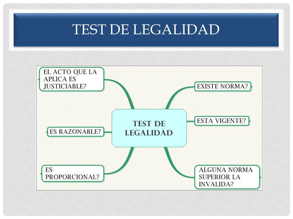 TEST DE LEGALIDAD