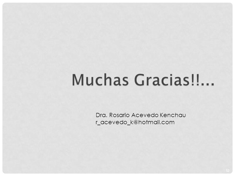 52 Dra. Rosario Acevedo Kenchau r_acevedo_k@hotmail.com