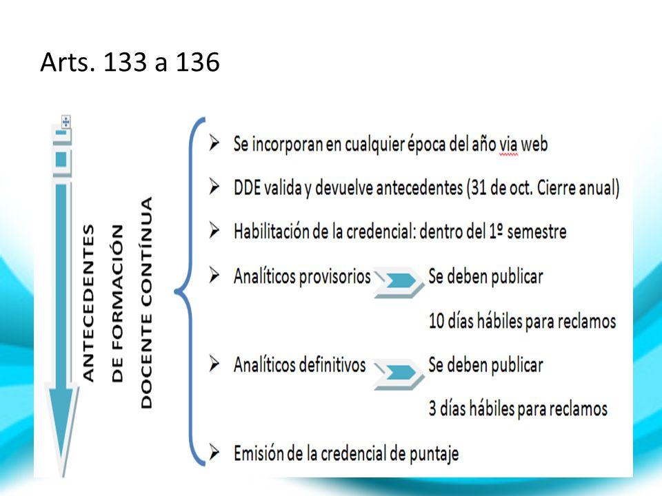 Arts. 133 a 136
