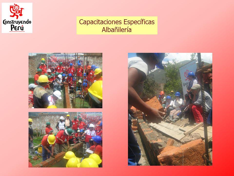 Capacitaciones Específicas Albañilería