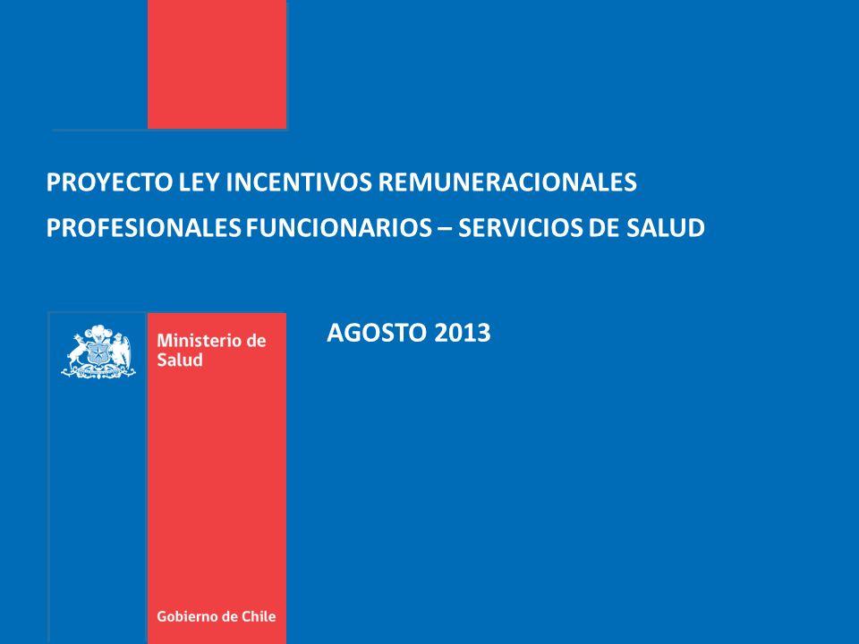 PROYECTO LEY INCENTIVOS REMUNERACIONALES PROFESIONALES FUNCIONARIOS – SERVICIOS DE SALUD AGOSTO 2013