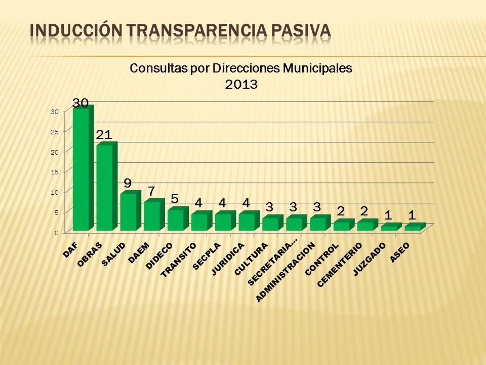 Consultas por Direcciones Municipales 2013
