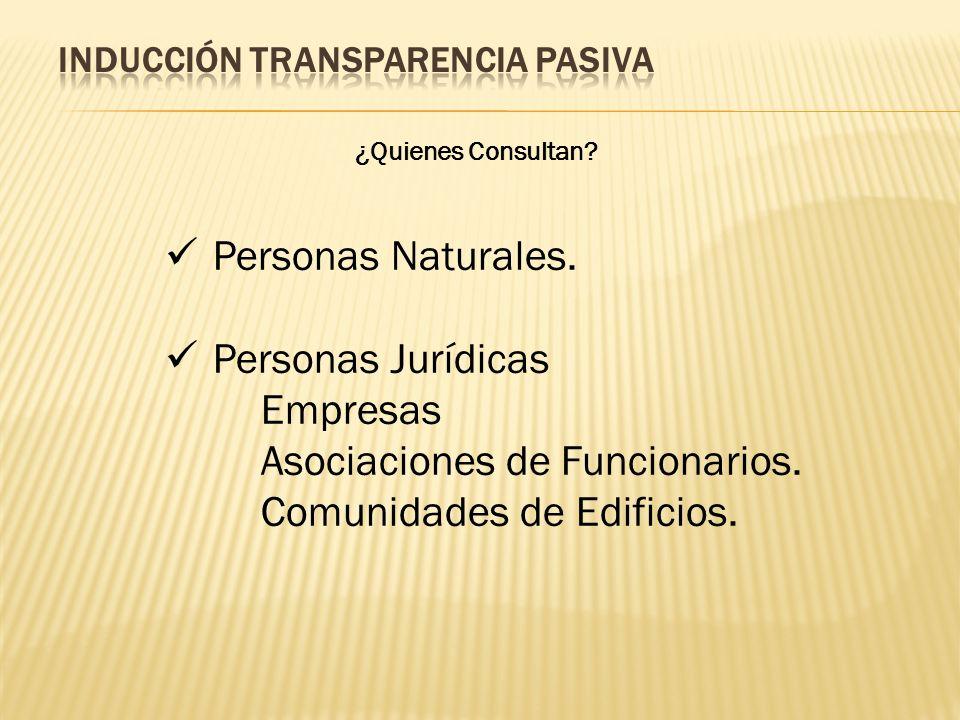 ¿Quienes Consultan? Personas Naturales. Personas Jurídicas Empresas Asociaciones de Funcionarios. Comunidades de Edificios.