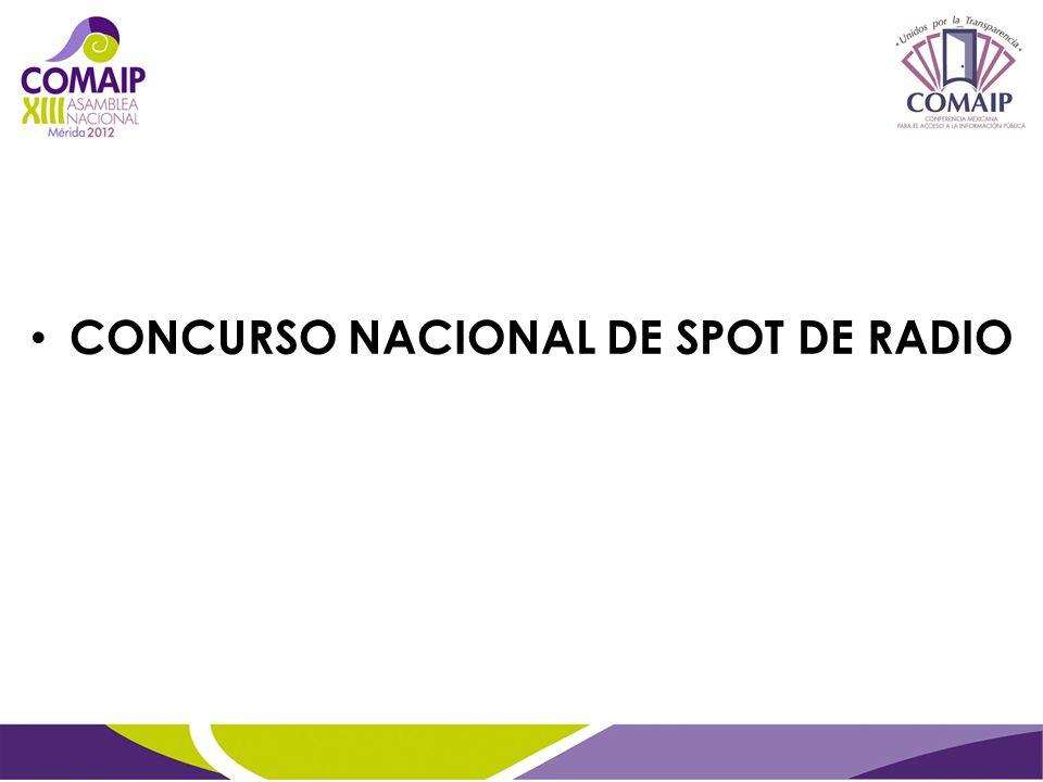 CONCURSO NACIONAL DE SPOT DE RADIO