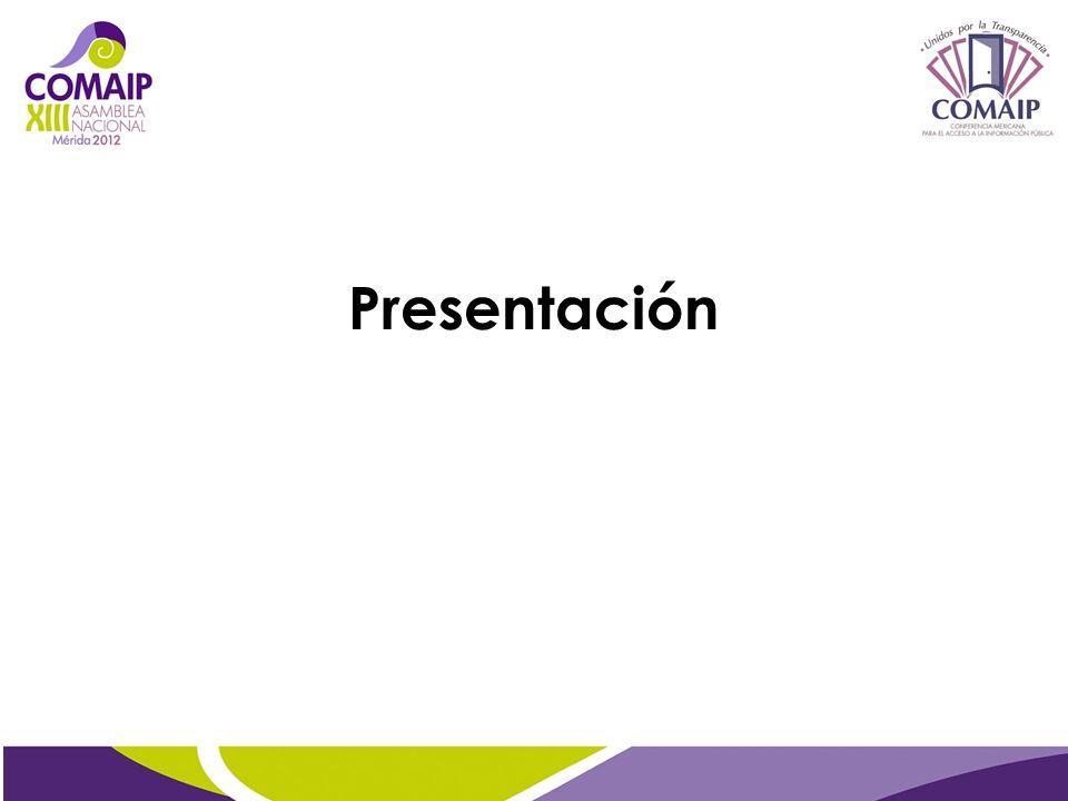 12° Congreso Nacional y 7° Internacional de Derecho de la Información, Campeche. Noviembre de 2011.