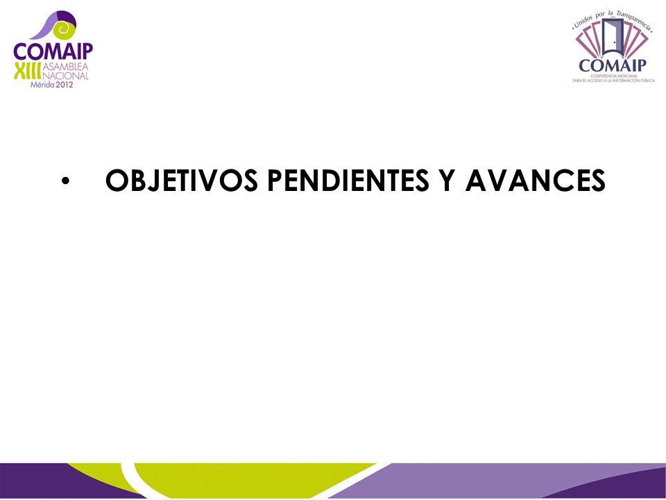 OBJETIVOS PENDIENTES Y AVANCES