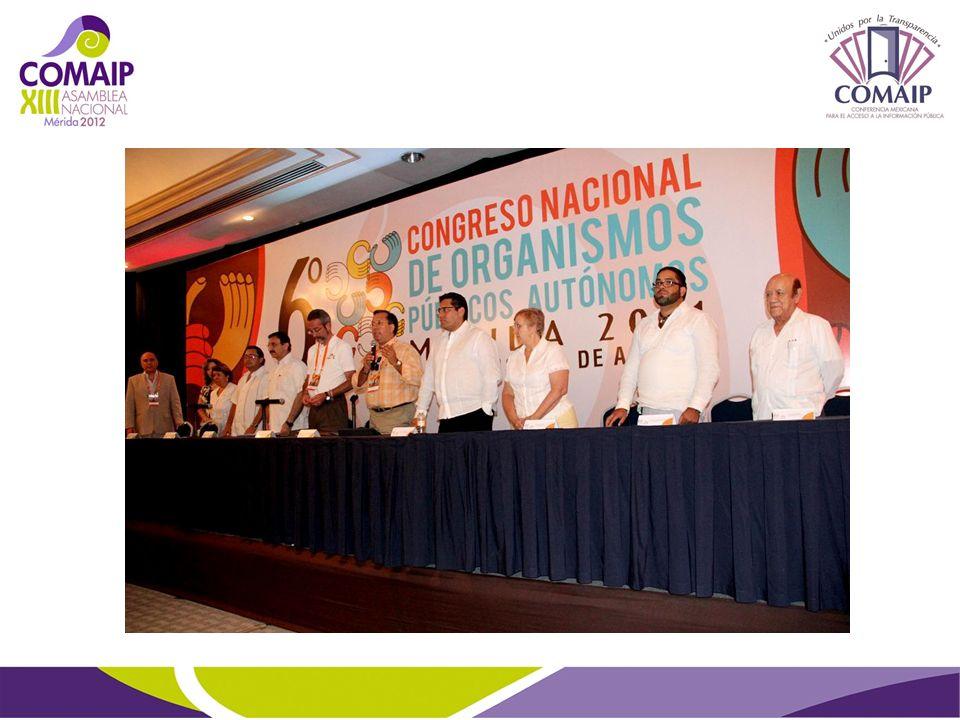 Quinta Sesión Ordinaria Asamblea Regional Norte de la COMAIP, Mazatlán, Sinaloa, Abril de 2012.