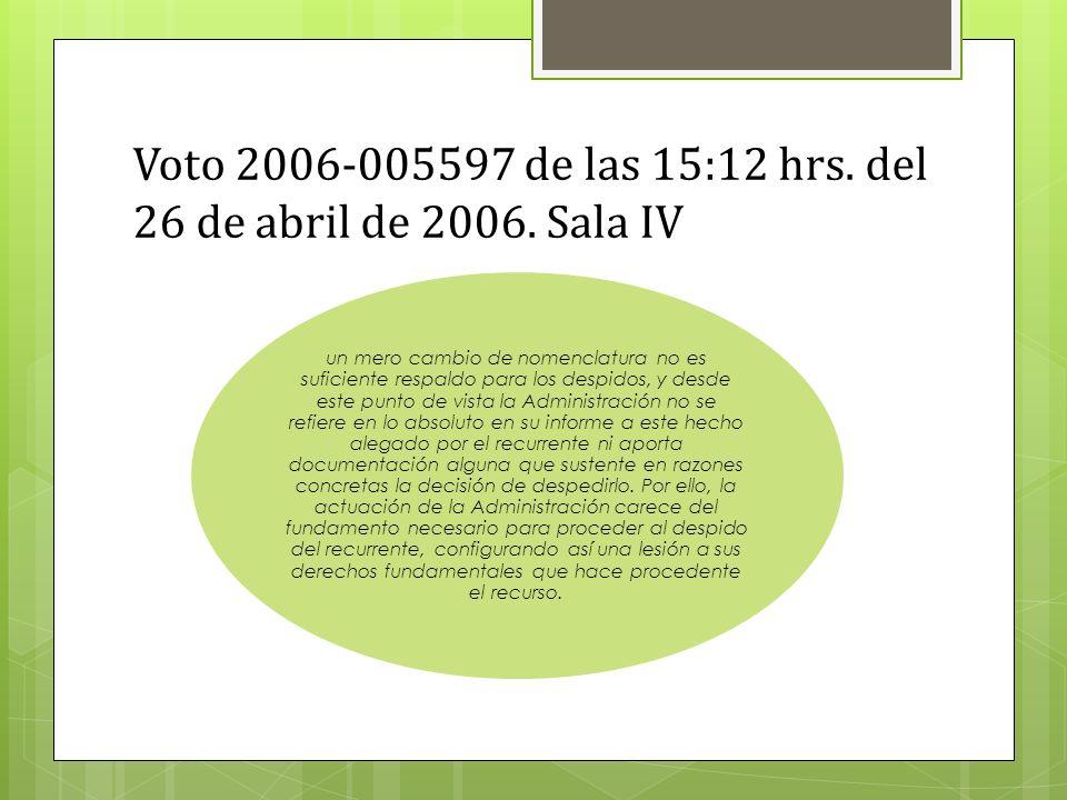 Voto 2006-005597 de las 15:12 hrs.del 26 de abril de 2006.