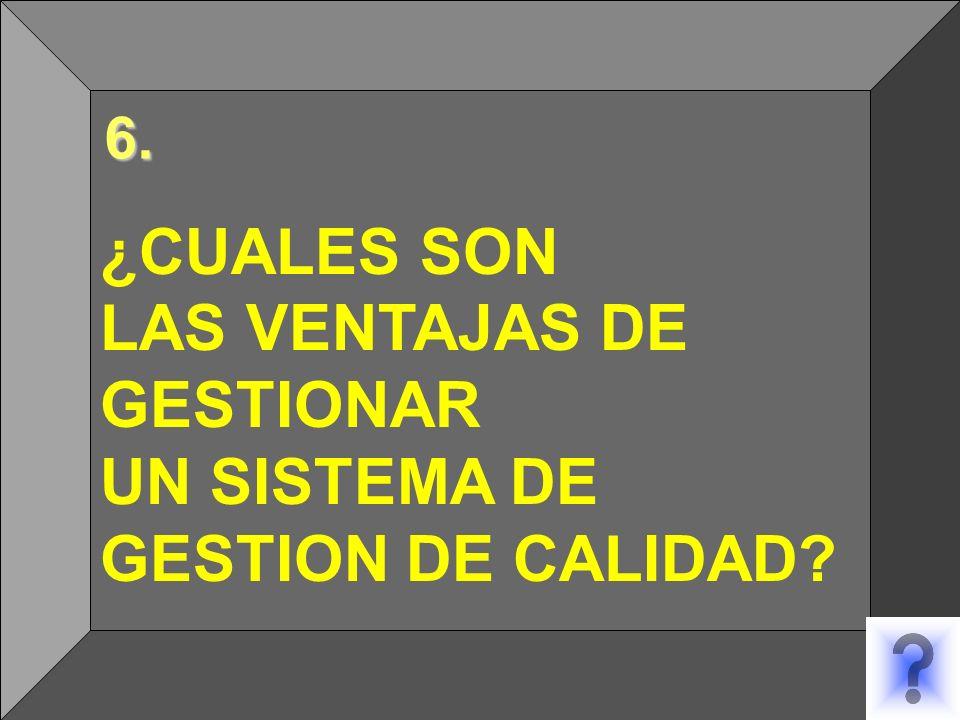 6.. ¿CUALES SON LAS VENTAJAS DE GESTIONAR UN SISTEMA DE GESTION DE CALIDAD? 6. 6.