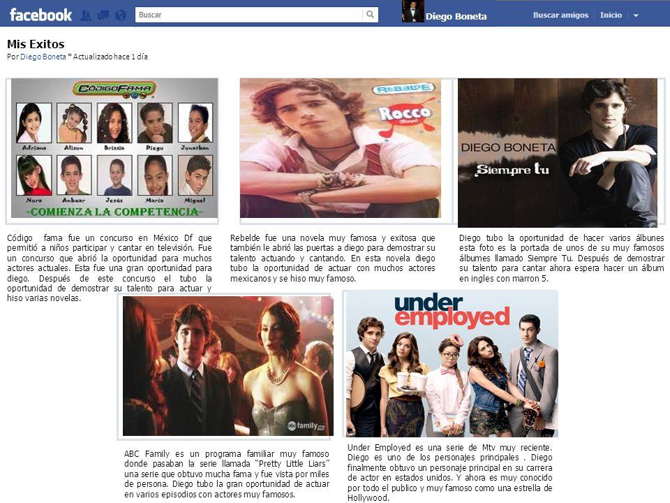 Claude Monet Mis Exitos Por Diego Boneta * Actualizado hace 1 día Código fama fue un concurso en México Df que permitió a niños participar y cantar en