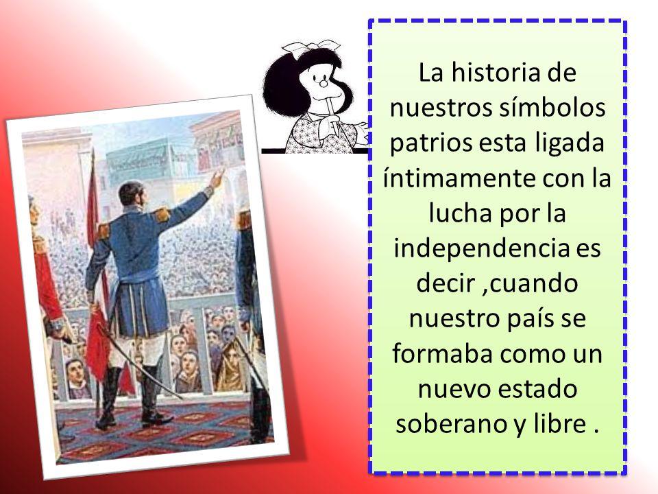LOS SIMBOLOS DE LA PATRIA Formación Ciudadana y Cívica 2º año sec. –Tema nº 8 Sííí Hoy hablaremos de … Sííí Hoy hablaremos de …