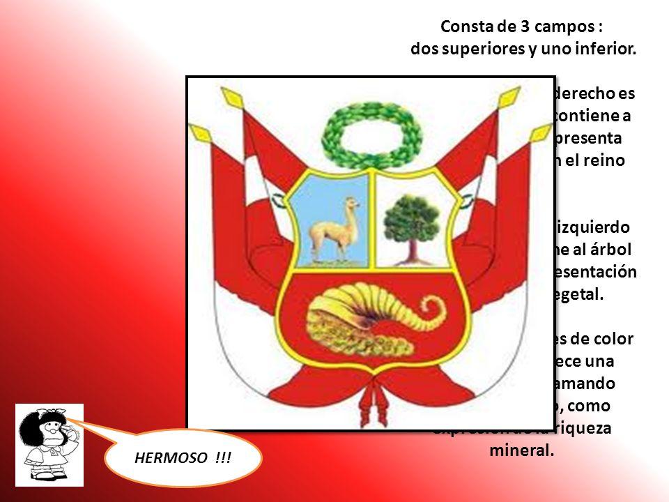 EL ESCUDO NACIONAL Fue aprobado,también por el congreso de 1825 y distingue a las oficinas publicas, colegios y centros educativos e integra nuestra b