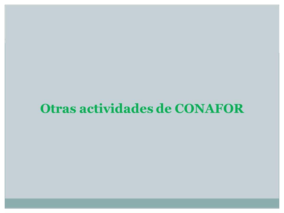 Otras actividades de CONAFOR