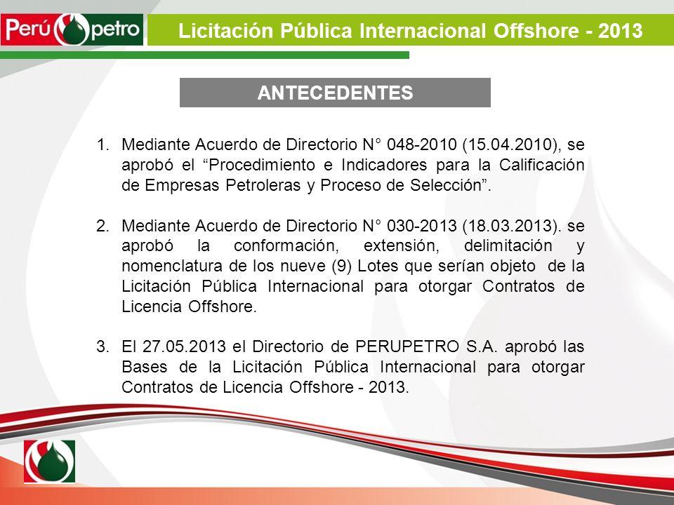 1.Mediante Acuerdo de Directorio N° 048-2010 (15.04.2010), se aprobó el Procedimiento e Indicadores para la Calificación de Empresas Petroleras y Proc