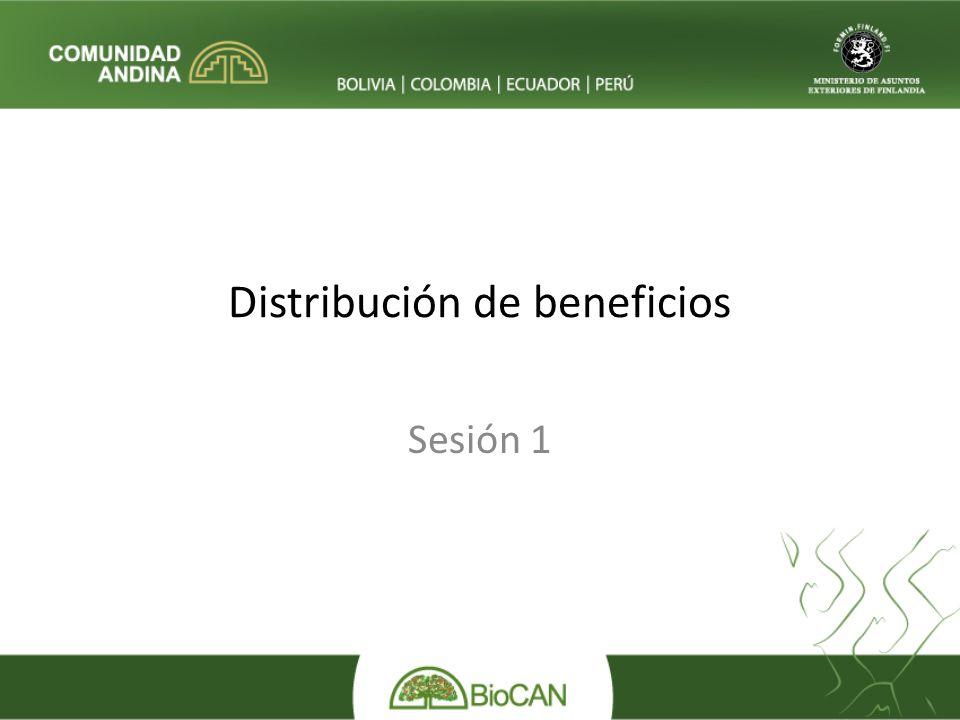 Distribución de beneficios Sesión 1