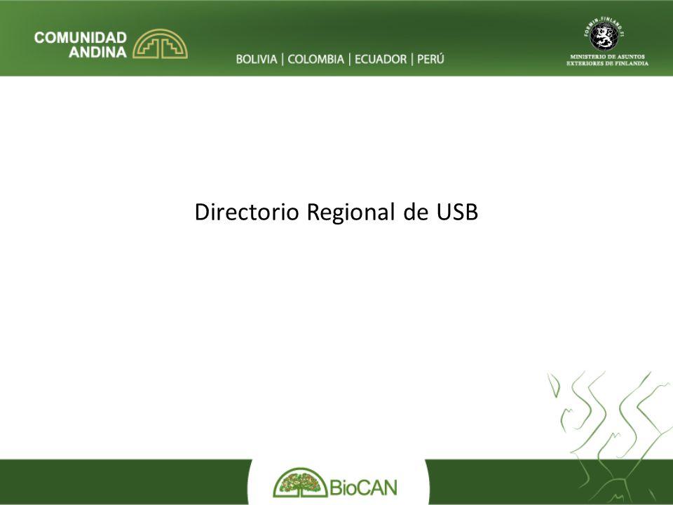 Directorio Regional de USB