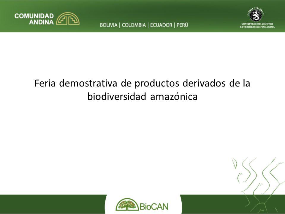 Feria demostrativa de productos derivados de la biodiversidad amazónica