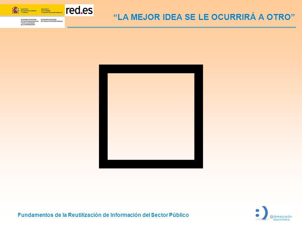 Fundamentos de la Reutilización de Información del Sector Público LA MEJOR IDEA SE LE OCURRIRÁ A OTRO