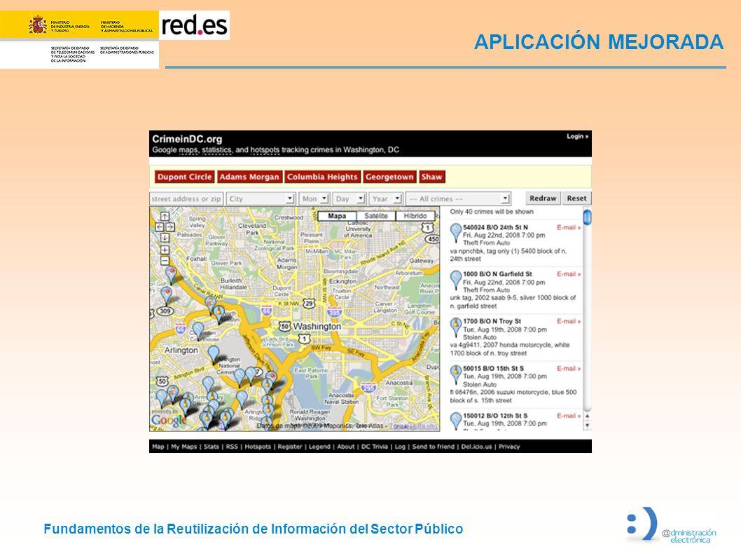 Fundamentos de la Reutilización de Información del Sector Público APLICACIÓN MEJORADA