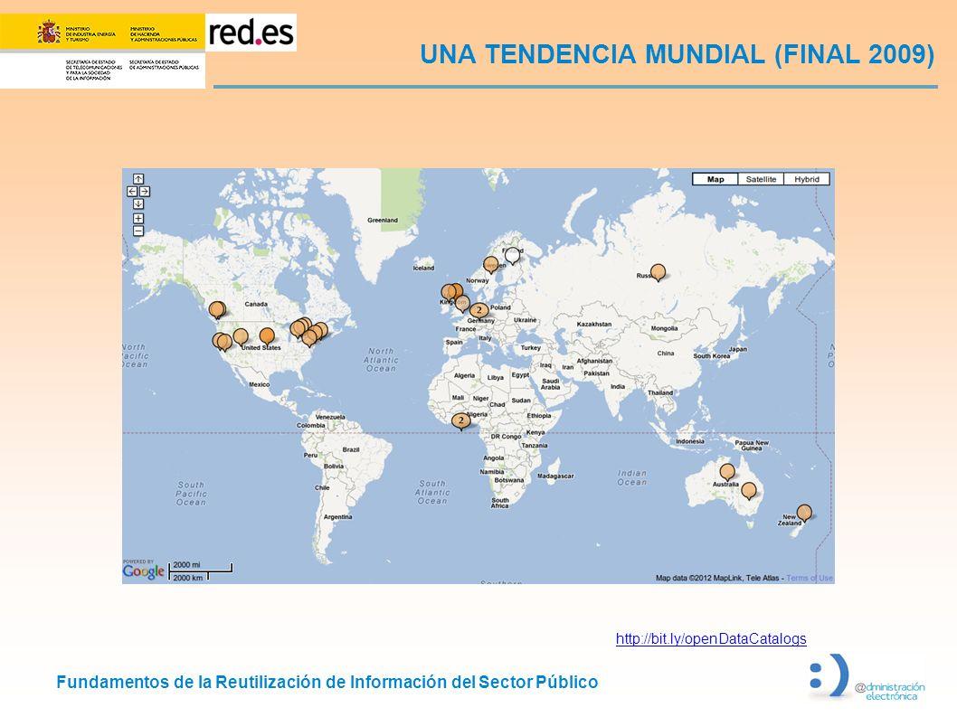 Fundamentos de la Reutilización de Información del Sector Público UNA TENDENCIA MUNDIAL (FINAL 2009) http://bit.ly/openDataCatalogs