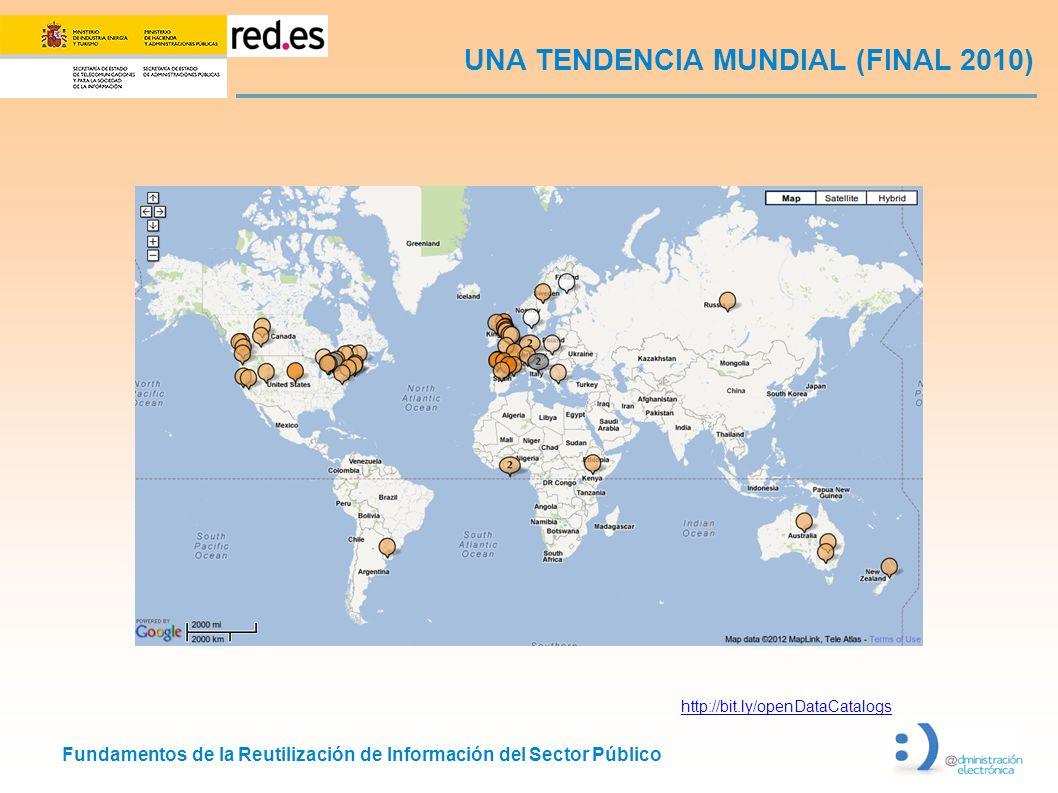 Fundamentos de la Reutilización de Información del Sector Público UNA TENDENCIA MUNDIAL (FINAL 2010) http://bit.ly/openDataCatalogs
