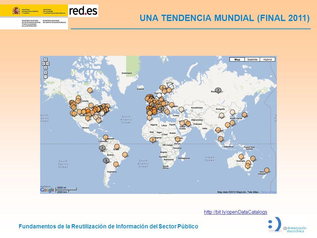 Fundamentos de la Reutilización de Información del Sector Público UNA TENDENCIA MUNDIAL (FINAL 2011) http://bit.ly/openDataCatalogs