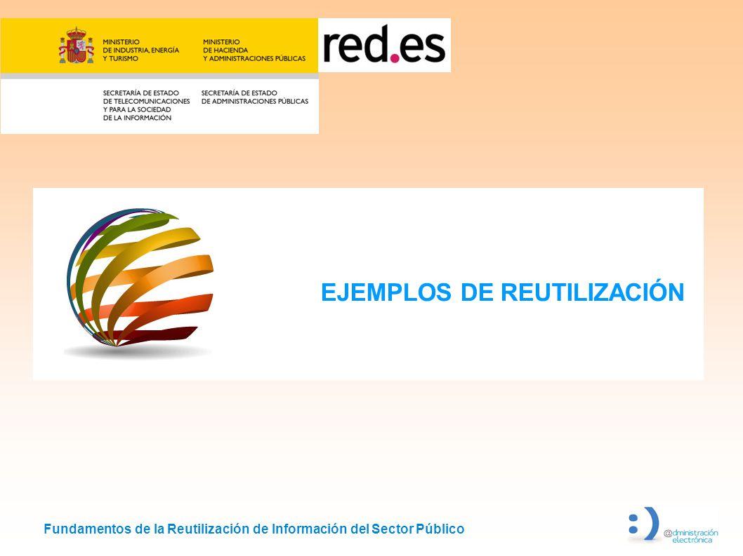 Fundamentos de la Reutilización de Información del Sector Público EJEMPLOS DE REUTILIZACIÓN