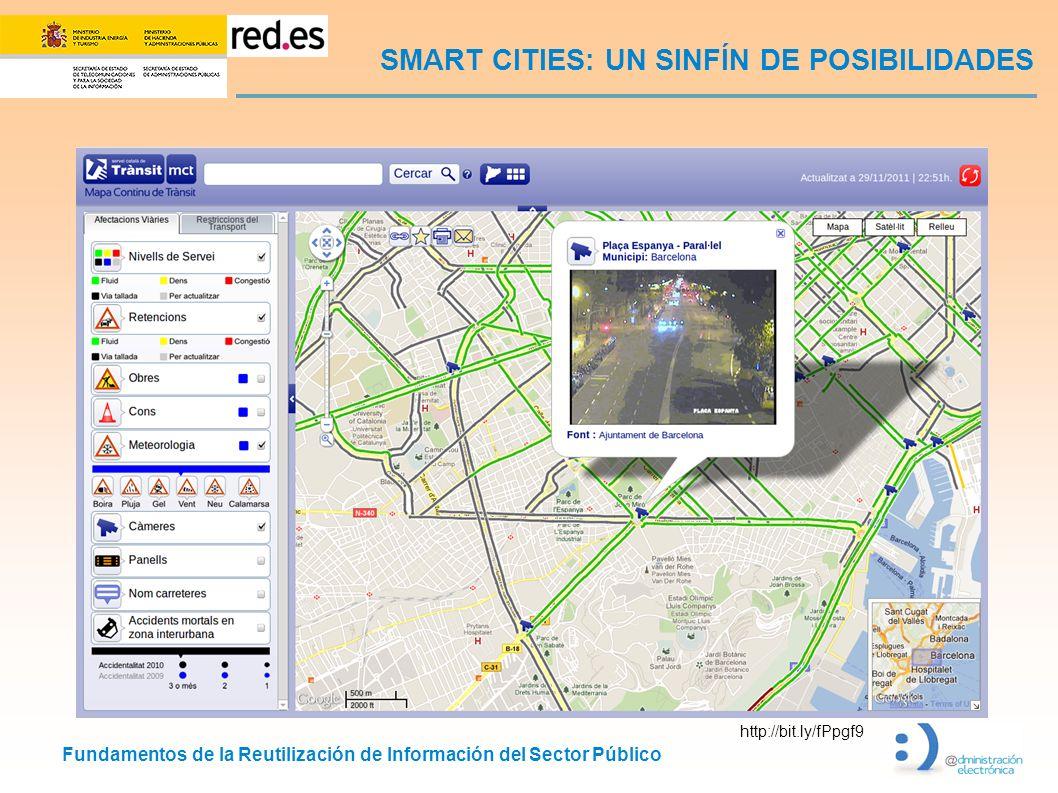 Fundamentos de la Reutilización de Información del Sector Público SMART CITIES: UN SINFÍN DE POSIBILIDADES http://bit.ly/fPpgf9