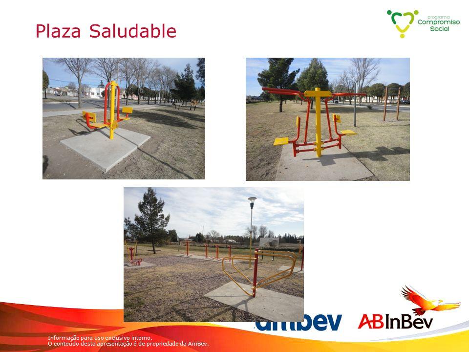 Informação para uso exclusivo interno. O conteúdo desta apresentação é de propriedade da AmBev. Plaza Saludable