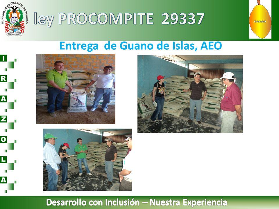 Entrega de Guano de Islas, AEO