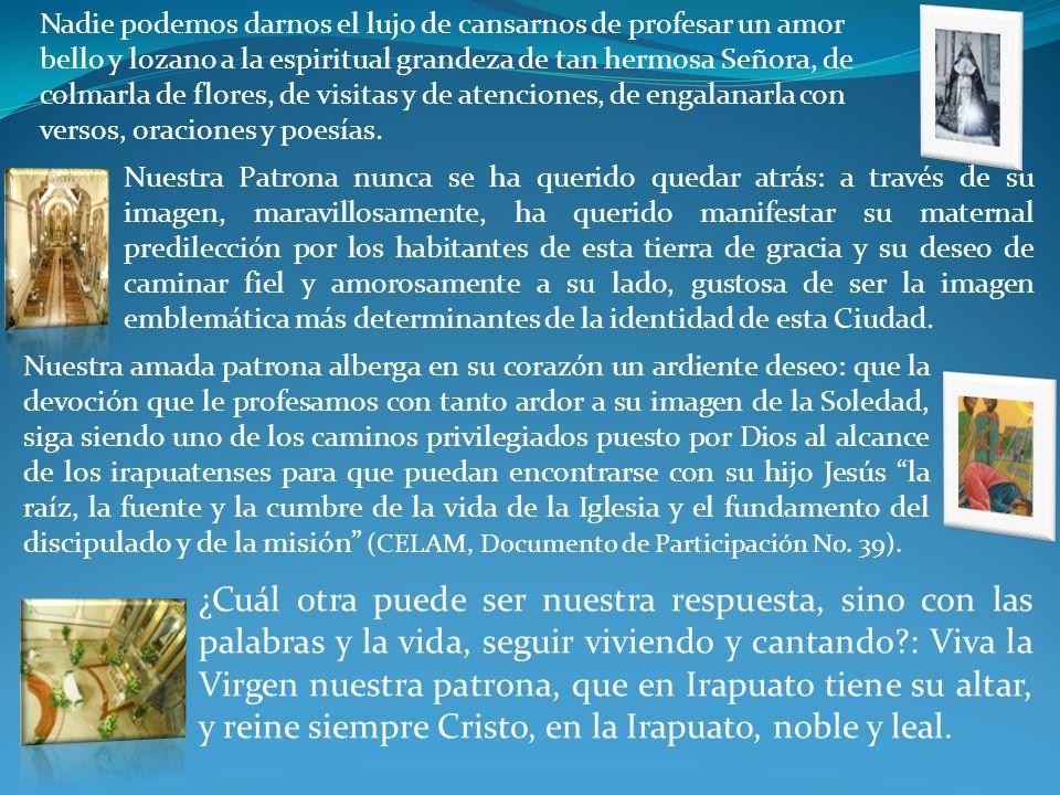 V. UN EJEMPLO PARA NOSOTROS Desde finales del XVII se ha venido escribiendo una historia de fe y esperanza, y de amor bello y eterno que con el pasar