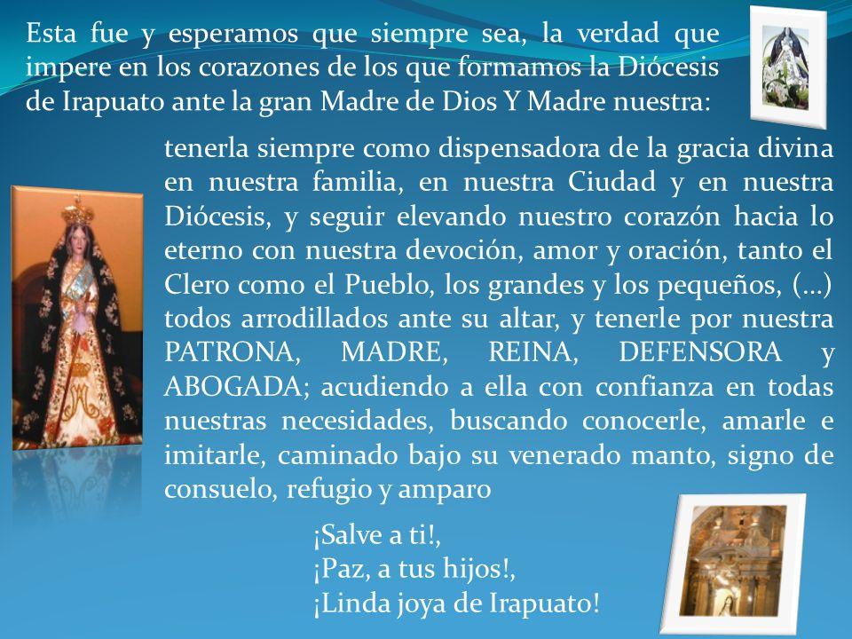 VI. ES DE BIEN NACIDOS, SER AGRADECIDOS Al recordar el Bicentenario del patronato de nuestra Patrona sobre esta porción de Pueblo de Dios, sentimos en
