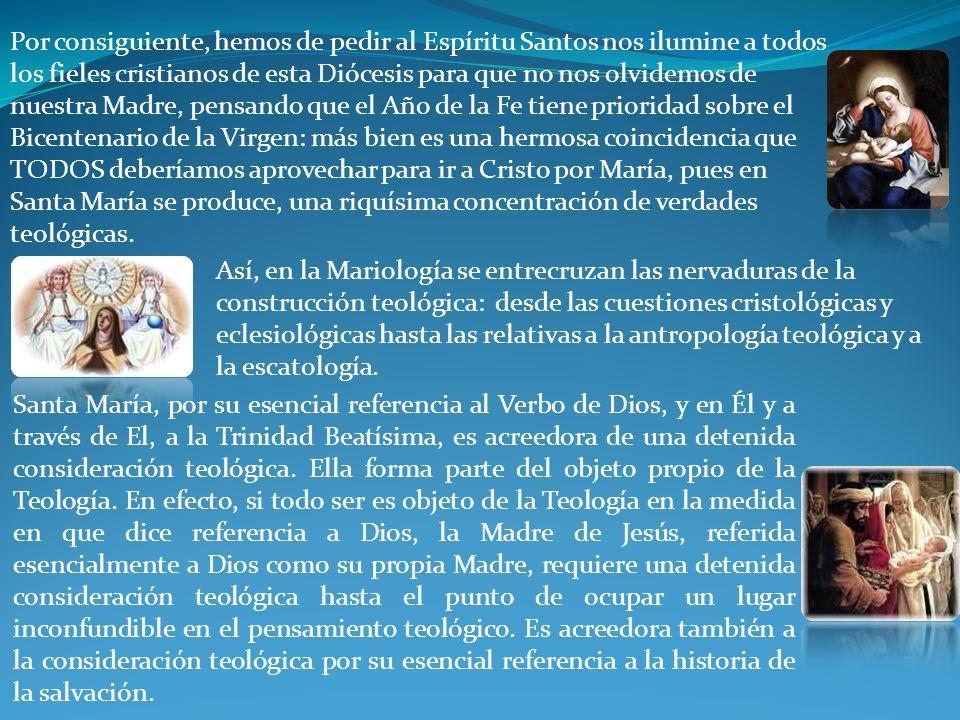 Así, en la Mariología se entrecruzan las nervaduras de la construcción teológica: desde las cuestiones cristológicas y eclesiológicas hasta las relativas a la antropología teológica y a la escatología.