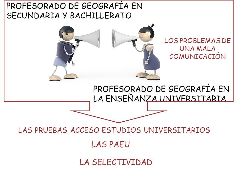 3. Sistema de trabajo y de relación con el profesorado de Bachillerato. El papel del coordinador PAEU.