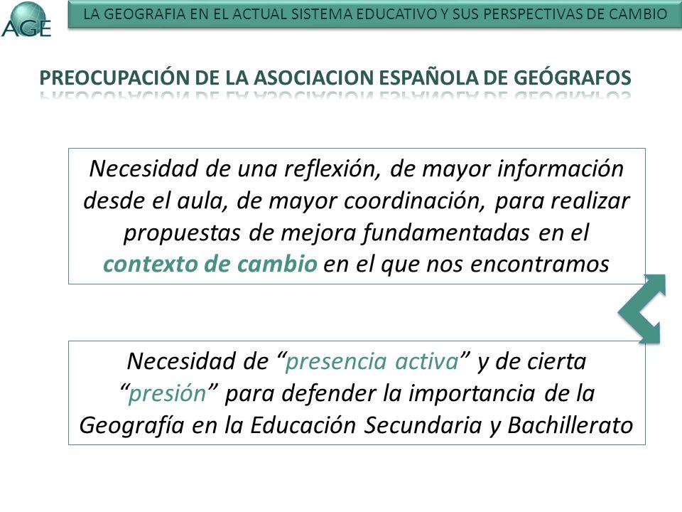 PROFESORADO DE GEOGRAFÍA EN SECUNDARIA Y BACHILLERATO PROFESORADO DE GEOGRAFÍA EN LA ENSEÑANZA UNIVERSITARIA LOS PROBLEMAS DE UNA MALA COMUNICACIÓN LAS PRUEBAS ACCESO ESTUDIOS UNIVERSITARIOS LAS PAEU LA SELECTIVIDAD