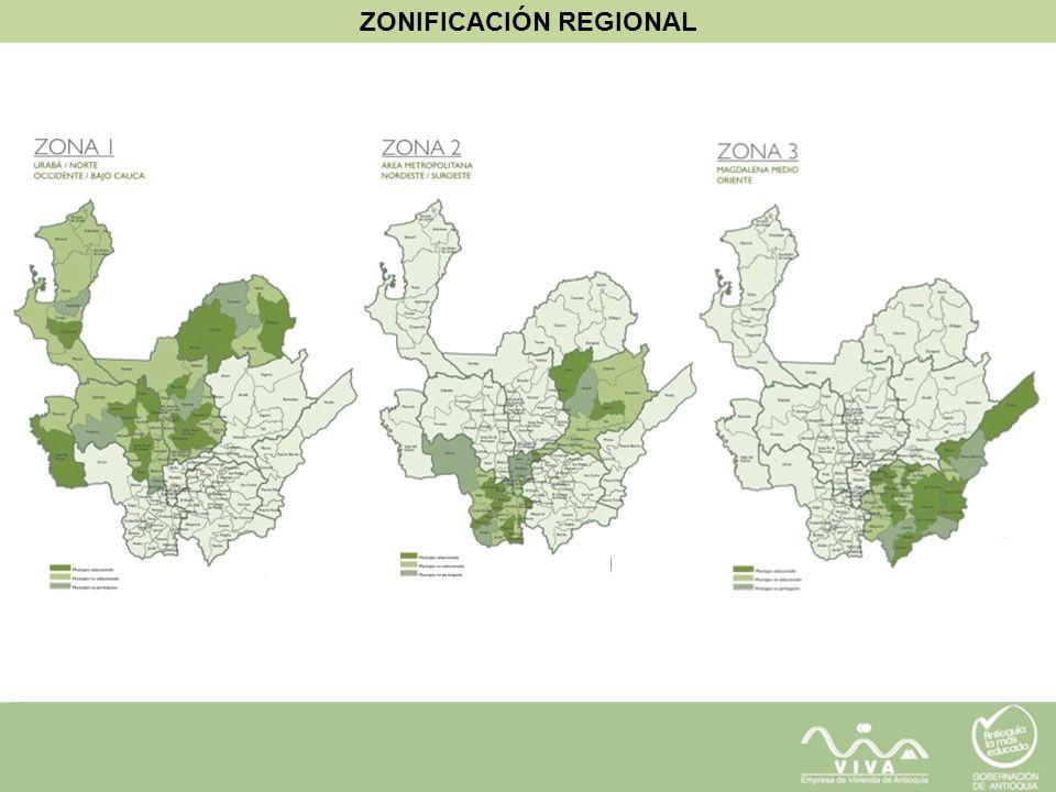 ZONIFICACIÓN REGIONAL