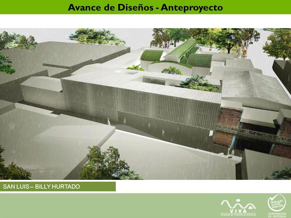 SAN LUIS – BILLY HURTADO Avance de Diseños - Anteproyecto
