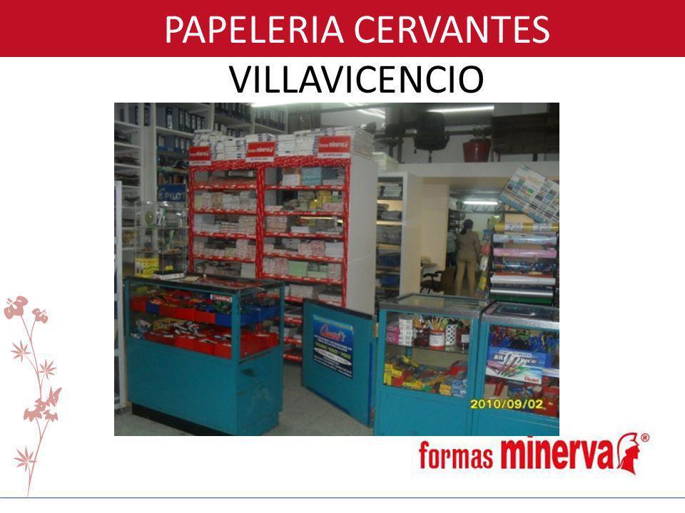 PAPELERIA CERVANTES VILLAVICENCIO