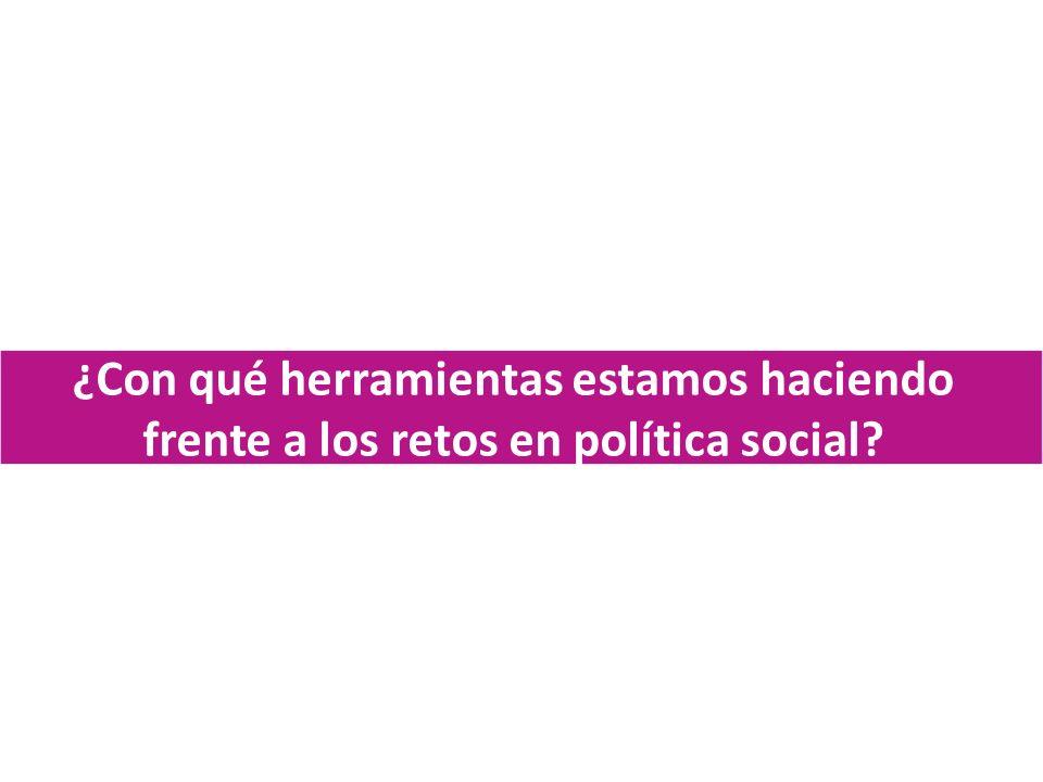 ¿Con qué herramientas estamos haciendo frente a los retos en política social?