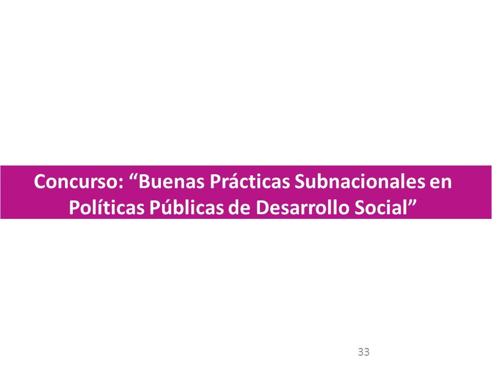 33 Concurso: Buenas Prácticas Subnacionales en Políticas Públicas de Desarrollo Social