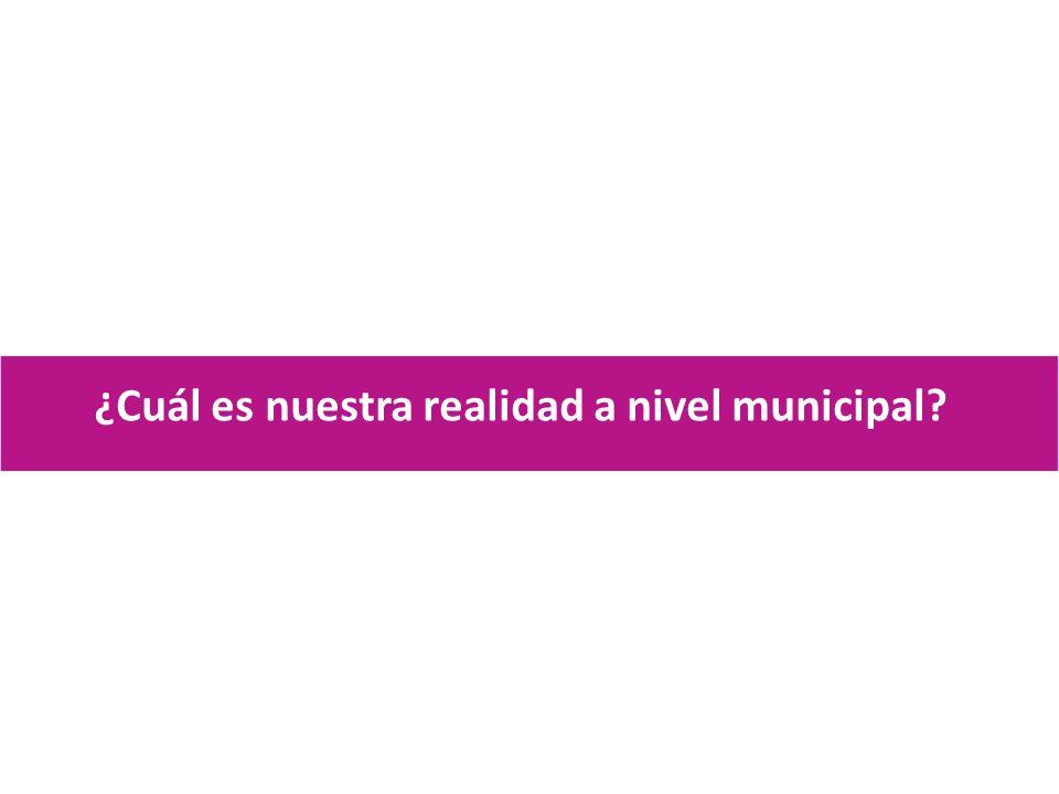 ¿Cuál es nuestra realidad a nivel municipal?